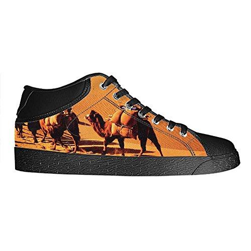 Dalliy sch?ne w¨¹stenlandschaft Mens Canvas shoes Schuhe Lace-up High-top Sneakers Segeltuchschuhe Leinwand-Schuh-Turnschuhe E