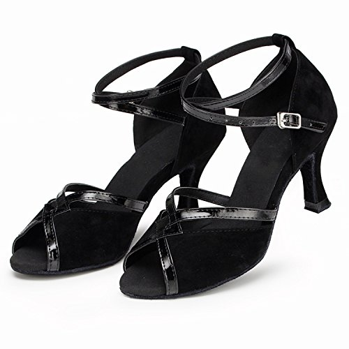 Minitoo ,  Damen Tanzschuhe - Standard & Latein , Schwarz - schwarz - Größe: 35