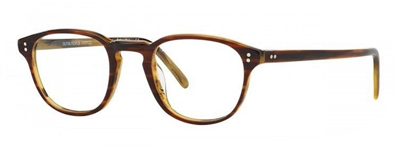 New Oliver Peoples OV 5219 1310 Fairmont Amaretto Stripped Havana Eye Wear