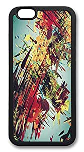 ACESR Abstract Paint Lightweight iPhone 6 Case TPU Back Cover Case for Apple iPhone 6 4.7inch Black hjbrhga1544
