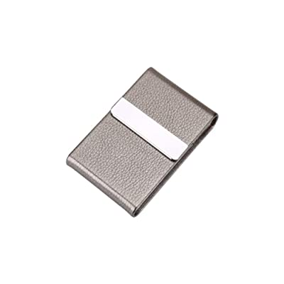 HAOYUSHANGMAO Creative Men's Cigarette Case, 7 Sticks of Stainless Metal Flip Cigarette Holder,PU Leather Storage Box,Best Gift - The Best Gift (Color : Gray): Sports & Outdoors