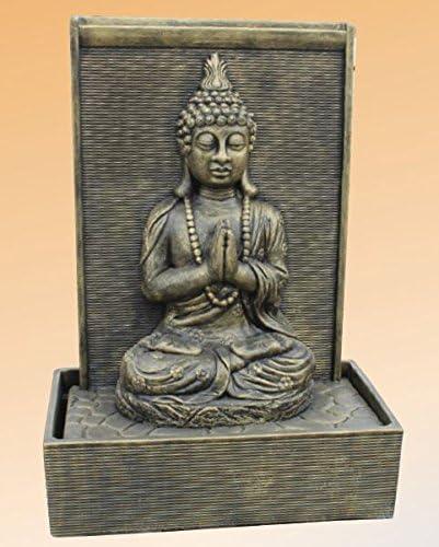 Fuente Zen Grande de piedra - Acabado Metálico: Amazon.es: Jardín