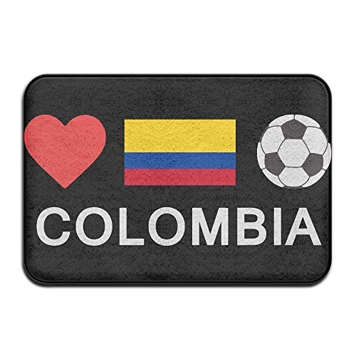 Uiowsbe Colombia Football Colombia Soccer Non-Slip Outside/Inside Door Mat Rug for Health and Wellness Bathroom Entrance Rug 23.6''x 15.7'' by Uiowsbe