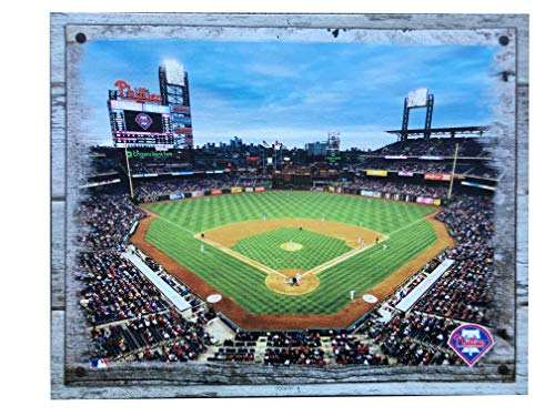Artissimo Designs Plank Sports Stadium and Arenas Canvas Artwork (Philadelphia Phillies)