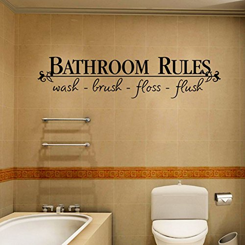 (Removable DIY Wall Sticker Mural Home Decal Decor for Bathroom)