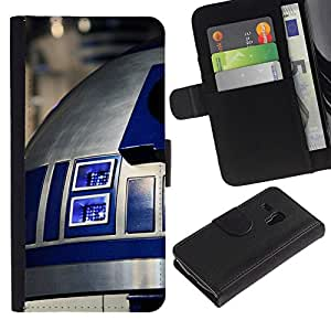 NEECELL GIFT forCITY // Billetera de cuero Caso Cubierta de protección Carcasa / Leather Wallet Case for Samsung Galaxy S3 MINI 8190 // R2D2