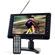 "Tyler TTV702 9"" Portable Widescreen LCD TV with Detachable Antennas, USB/SD Card Slot, Built in Digital Tuner, and AV Inputs"