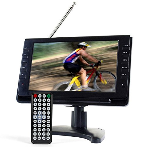 Tyler TTV702 9' Portable Widescreen LCD TV with Detachable Antennas, USB/SD Card Slot, Built in Digital Tuner, and AV Inputs