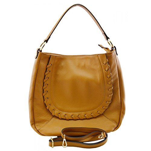 Leather Italy Leather Shoulder Bag Made Bag In Tuscan Genuine Cognac Woman Color z5Atpqwp