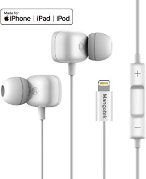 Amazon Com Mangotek Lightning Headphones For Iphone 11 Mfi Earphones For Iphone Wired Earbuds With Mic Compatible With Iphone 11 Pro Pro Max Iphone X Xs Xs Max Xr Iphone 8 8 Plus Iphone 7 7 Plus White Home