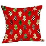 Christmas Flax Sofa Car Home Pgojuni Waist Cushion Cover Throw Pillow Cover Sofa/Couch 1pc (C)