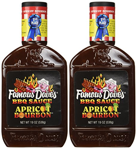 Famous Dave's Apricot Bourbon BBQ Sauce (2 Pack) 1st Place Barbecue Winner