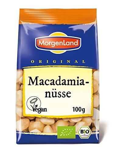 Morgenland Macadamianüsse natur 100g Bio Nüsse, 1er Pack (1 x 100 g)
