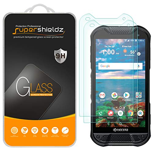 (2 Pack) Supershieldz for Kyocera (DuraForce Pro 2) Tempered Glass Screen Protector, Anti Scratch, Bubble Free (Replacement Kyocera Screen Phone)