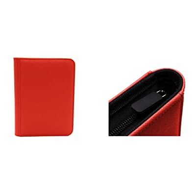 Red Dex Protection Zip Binder 4 Card Storage Zipper Binder: Toys & Games