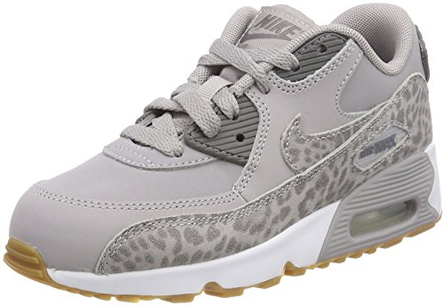 Nike Air Max 90 Se LTR (PS), Zapatillas de Gimnasia Para Niñas Gris (Atmosphere Grey/gunsmoke-white-gum Light Brown 004)
