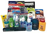 Outdoorsman Necessity Kit With Survival Towels, Paracord Bracelet, Ditty Bags, Eagle Claw Premium Pliers With Multi-Tool Handle, USB Mini-Light and Travel Size Toiletries.