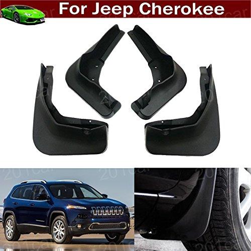 Black 4Pcs Front and Rear Car Mud Flaps Splash Guard Fender Mud Guards Mudguard Mudflaps Cherokee 2013 2014 2015 2016 2017 2018 1011