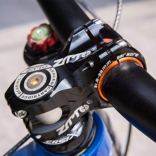 Wenjie Hollow out 0 Degree Rise DH Am Enduro Stem Bicycle 50mm MTB Stem Aleaci/ón de Aluminio CNC para 35mm 31.8mm Manillar-Negro