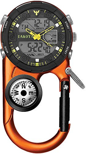Dakota II Analog and Digital Clip Watch - Orange