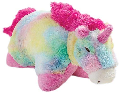 Pillow Pets Authentic 30quot Rainbow Unicorn Folding Plush Jumbo