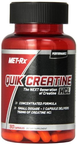MET-Rx Quik-Cret Diet Supplement Capsules, 90 Count