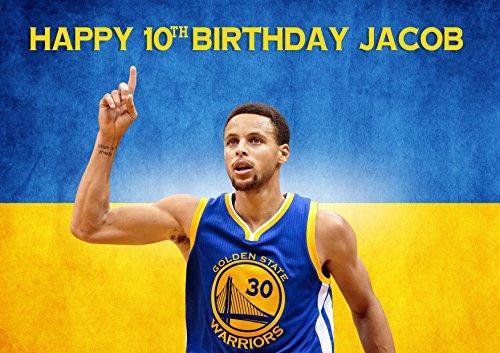 Stephen Curry Golden State Warriors Nba Birthday Cake