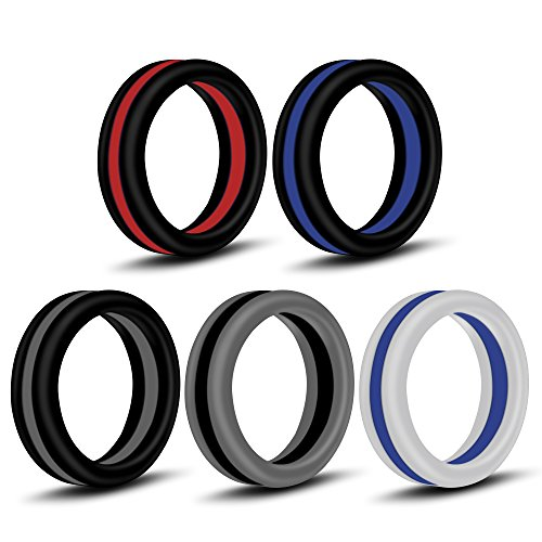 (CablePro Silicone Wedding Ring,Premium Medical Grade Wedding-Bands for Men, Athletes, Comfortable Fit & Skin Safe, Non-Toxic, Antibacterial (5-Colour) (9))