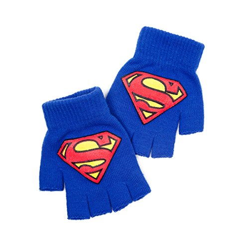 Superman Fingerlose Handschuhe with Superman Logo,