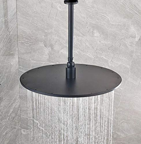 Alcachofa de ducha redonda de 40 cm Rozin con brazo de ducha de 25 cm antical lat/ón montado en el techo cabezal de ducha de lluvia boquilla de silicona antibloqueo
