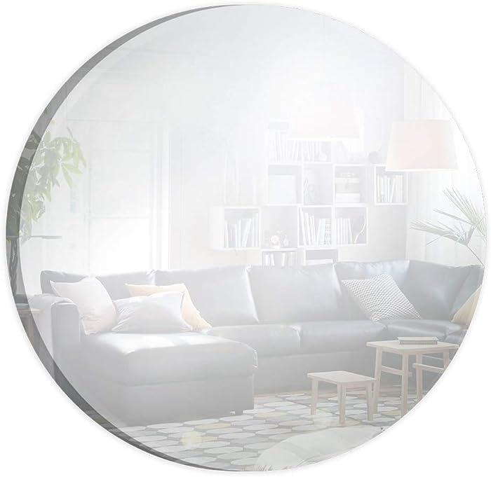 The Best Murrey Home 12 Inch Round Mirror Platte