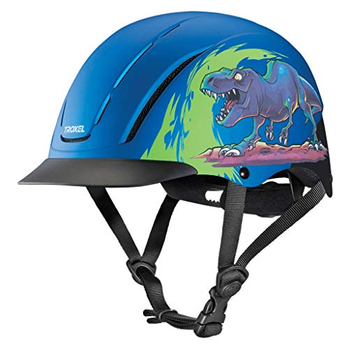 - Troxel Spirit Blue T-REX Safety Horse Riding Training Adjustable Helmet (Small 6 1/2