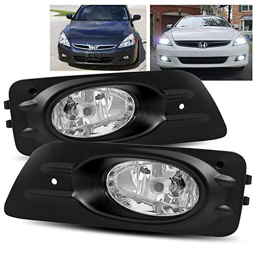 (ModifyStreet For 2006 2007 Honda Accord 4Dr Sedan Clear Fog Lights)