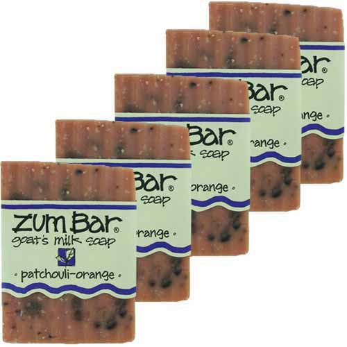 Indigo Wild: Zum Bar Goat's Milk Soap, Patchouli & Orange 3 oz (5 pack) ()