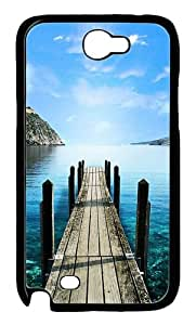 Road to Lake Polycarbonate Hard Case Cover for Samsung Galaxy Note 2/ Note II/ N7100 Black