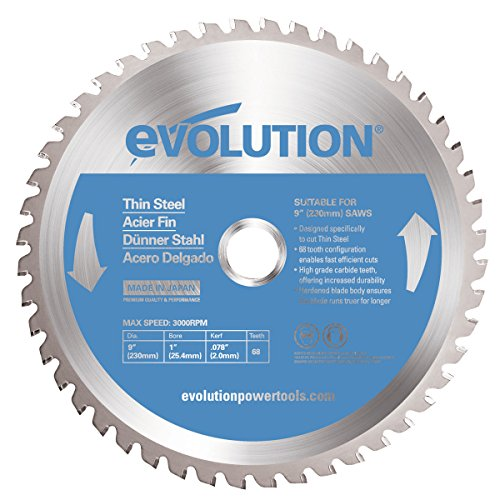 Evolution Power Tools 230BLADETS Thin Steel Cutting Blade, 9-Inch x 68-Tooth