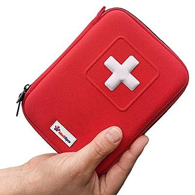 100-Piece First Aid Kit, Blue Semi Hard Case