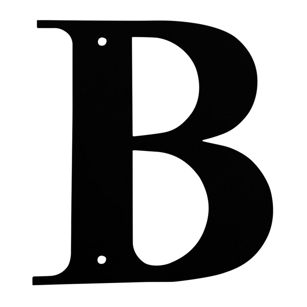 Iron Address Letters House Letter B 6'' - Heavy Duty Metal House Numbers and Letters, House Signs