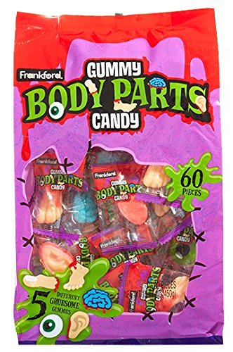 Zombie Gummy Body Parts Candy