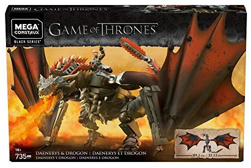 Mega Brands GKG97 Game of Thrones: Daenerys and Drogon - Mega Construx, Multi Color 10