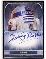 2015 Star Wars Masterwork Autograph Card SILVER FRAME Kenny Baker as R2D2