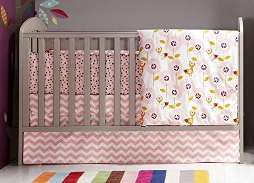 Mamas and Papas Patternology - Crib Skirt - Bird