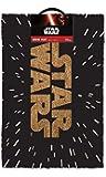 Officially Licensed Star Wars Logo Black Doormat