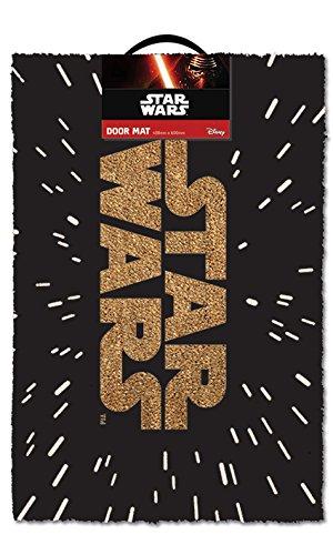 Pyramid America Star Wars Logo Movie Outdoor Doormat Door Mat 30x18 inch