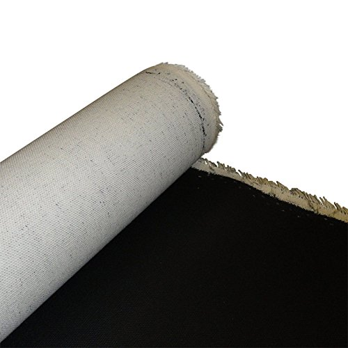 Sunbelt Mfg. Co. Primed Cotton Canvas Roll Black 6 yds x 63'' by Sunbelt Mfg. Co