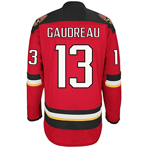 Men's Johnny Gaudreau #13 Calgary Flames Premier Alternate Hockey Jersey (M) - Calgary Flames Hockey Jersey