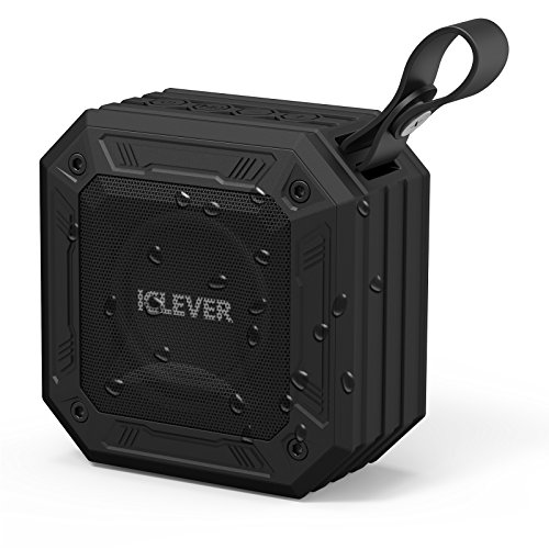 iClever Portable Bluetooth Speakers with Enhanced Bass, 12-Hour Playtime, Aux-in Port, IPX7 Waterproof, Shockproof, Wireless Outdoor Speakers for