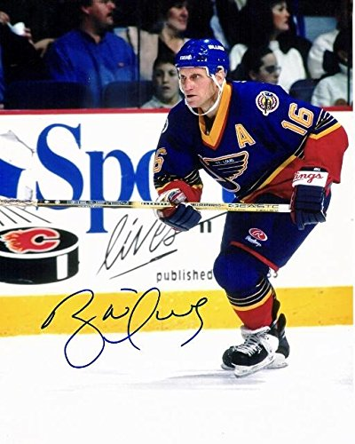 Signed Brett Hull Picture - 11x14 - Beckett Authentication - Autographed NHL Photos