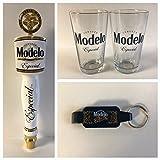Modelo Especial Draft Kit - 2 16oz Glasses - 1 Tap Handle - 1 Keychain Bottle Opener