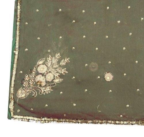 Beads Silk Sari Drapes - 1